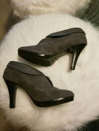 Gray ankle boot Metairie, 70006
