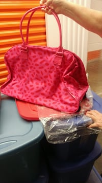 red and black leopard print backpack Rockville, 20852