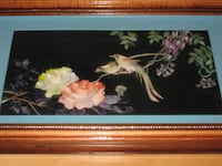 Vintage Chinese Shadow Box Framed Hanging Wall Art Calgary