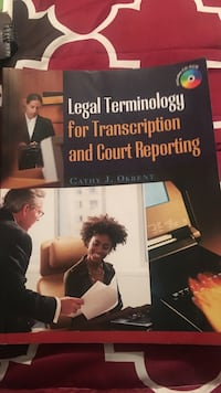 Legal terminology for transcription and court reporting book by cathy j. okrent Saint Augustine, 32084