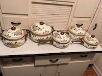 five white and green floral cookwares Peachtree Corners, 30092