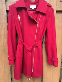 Michael Kors Red Belted Coat/size:16 Germantown, 20874