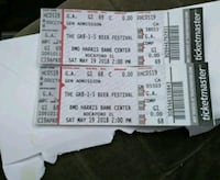 two white and black tickets 647 mi