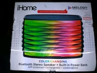 iHome color changing Bluetooth stereo speaker with built-in power bank box Manassas, 20110