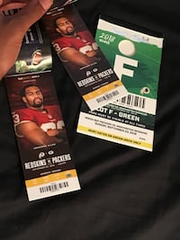 Redskins Vs Packers tickets with parking Washington