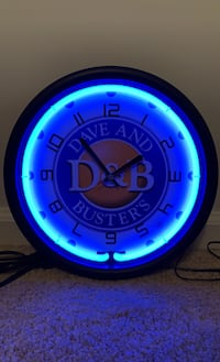 Dave and Busters Neon Clock
