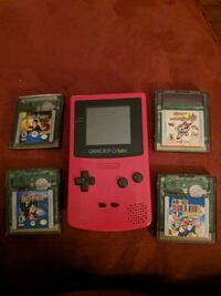 Pink Game Boy Color with 4 Game Pack York, 17401