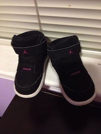 Baby's pair of black and pink Jordan shoes Springfield, 22150