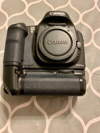 Canon 10D digital camera with flash.