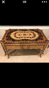 Brown wooden framed brown wooden table Weston, 33327