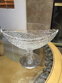 """Waterford Crystal Oval Pedestal Bowl - 8x10x8"""""""