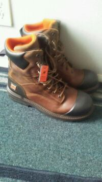 pair of brown leather work boots. Size 12w Edmonton, T6L 6B8
