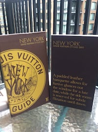 2011 two New York Louis Vuitton City Guide books Vancouver, V6B 2E6