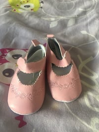 chaussures Mary Jane rose de la fille