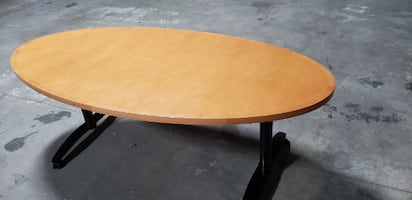 Wooden Oval Office Table
