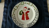 "9"" decorative xmas plate Waterbury, 06705"
