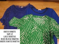 women's green and blue blouse Charlotte