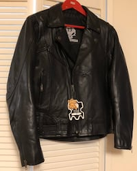 Women's Armoured Motorcycle Black Leather Jacket Size M Toronto, M8X 2W4
