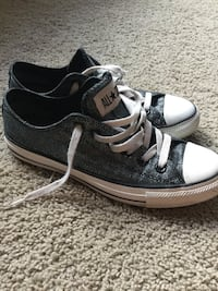 Women's Converse All Star Sparkly Black Low Top Shoes