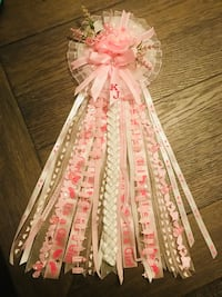 pink and white ribbon decor