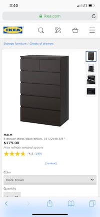 Brand new still in the box malm 6 drawer chest  Largo, 33760