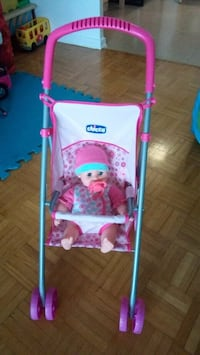 stroller toy with doll
