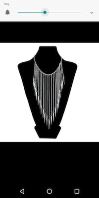 Silver spike necklace Modesto, 95355