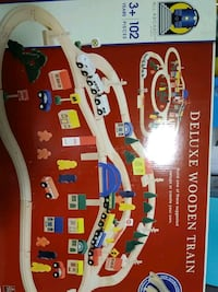 Brand new deluxe wooden train set by battat all aboard Toronto, M4C 4X6