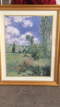 brown wooden framed painting of trees Gibsonville, 27215