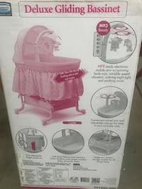 baby's pink and white cradle n swing box Rancho Cucamonga, 91739