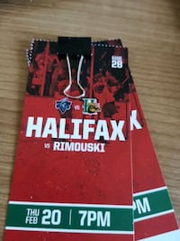 2 Halifax Mooseheads tickets 4 rows up Lafreniere