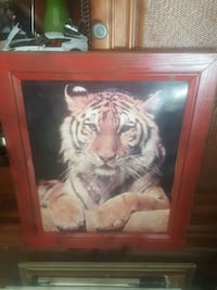 brown wooden framed painting of lion Wetumpka, 36093