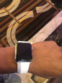 Apple  Iwatch, white  wristband with box and everything it came with. Reston, 20191
