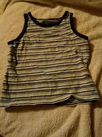 white and black stripe tank top Kitchener, N2H 2X4