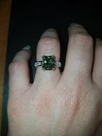 Sterling silver peridot and white sapphire size 7 Dundalk, 21222