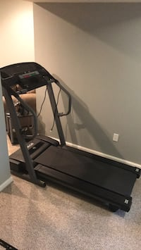 Black and gray treadmill control panel