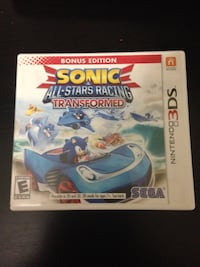Sonic and all stars racing transformed 3ds Woodbridge, 22192