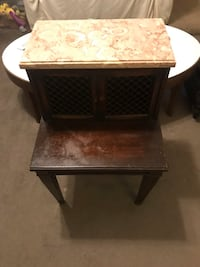 Antique Mahogany end table with marble top Waxhaw, 28173