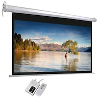 BNIB *Motorized* Projector Screen with Remote