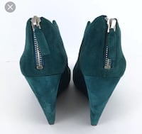 Teal suede 9 west wedge booties Vancouver, V6S 0B2