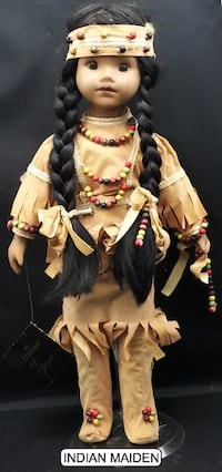 PORCELAIN INDIAN MAIDEN DOLL Las Vegas