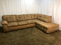#1589 - Professionally Cleaned Sectional w Chaise Oregon City, 97045