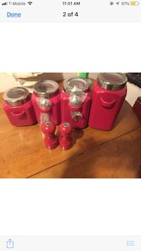 red and white ceramic canisters 299 mi