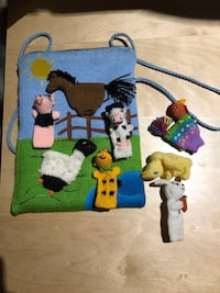 Finger puppets with farm bag Mississauga, L5M 1C8