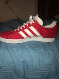 red and white Adidas Campus shoe size 8 in men—-original price $90.00 only asking $50.00 warn once didn't like the way the feel or look just need them taken off my hands  Sacramento, 95822