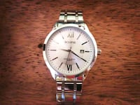 round silver-colored analog watch with link bracelet Apopka, 32712