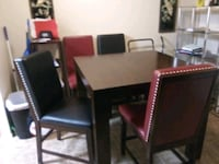 Wooden table w/4 leather chairs 175 Las Vegas, 89104