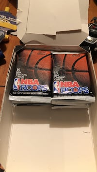 17 pack unopened NBA HOOPS SERIES 1 1991-92 Staunton, 24401