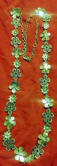 Clover color silve necklace with butterfly ring.   Youngstown
