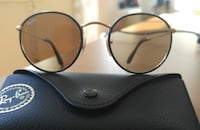 Leather Ray-Ban premium sunglasses